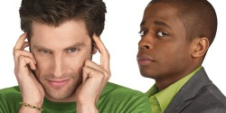 James Roday as Shawn Spencer and Dulé Hill as Burton Guster